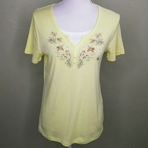 Butter Yellow Embroidered Top by I.B. Diffusion S